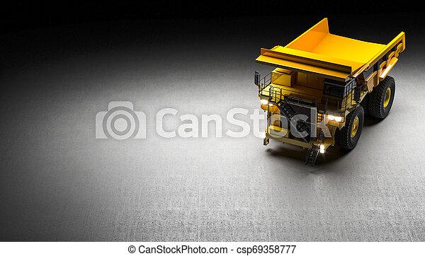 トラック, 採石場, 背景 - csp69358777
