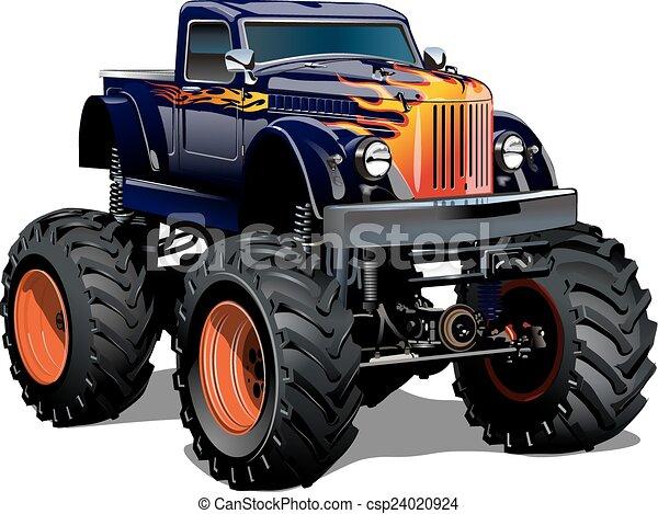 トラック, 漫画, モンスター - csp24020924
