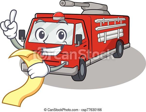 トラック, 特徴, 面白い, メニュー, 漫画, 火 - csp77630166