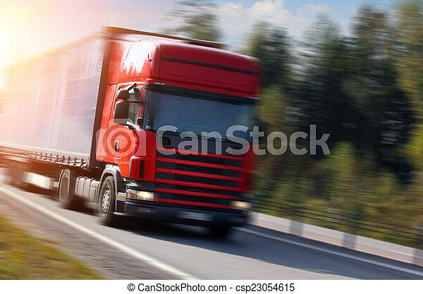 トラック, 道 - csp23054615