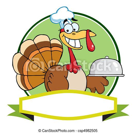 トルコ, シェフ, 感謝祭, 鳥 - csp4982505