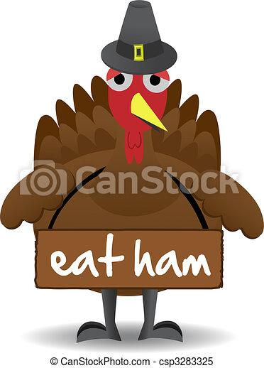 トルコ, 立つ, 感謝祭, 不幸, 単独で, 鳥 - csp3283325