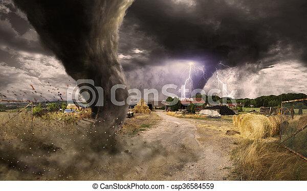 トルネード, 災害, 大きい - csp36584559