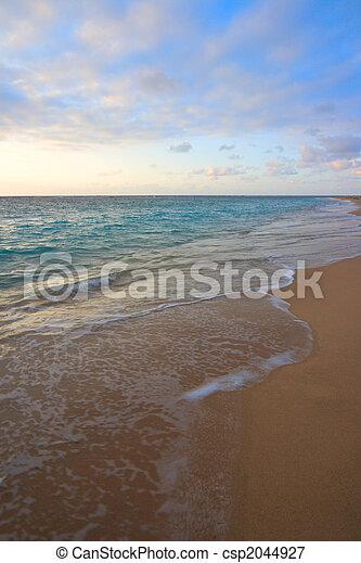 トロピカル, の間, 冷静, 日の出, 海洋 - csp2044927