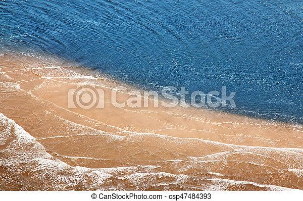トロピカル, 航空写真, 浜, 光景 - csp47484393