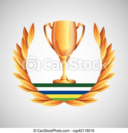 トロフィー, ゲーム, オリンピック, 紋章 - csp42118019