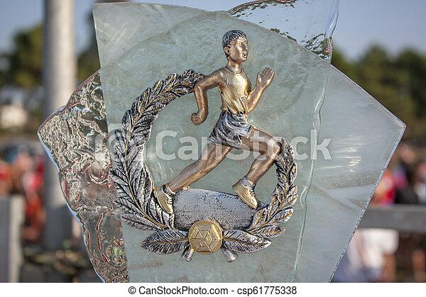 トロフィー, マラソン - csp61775338