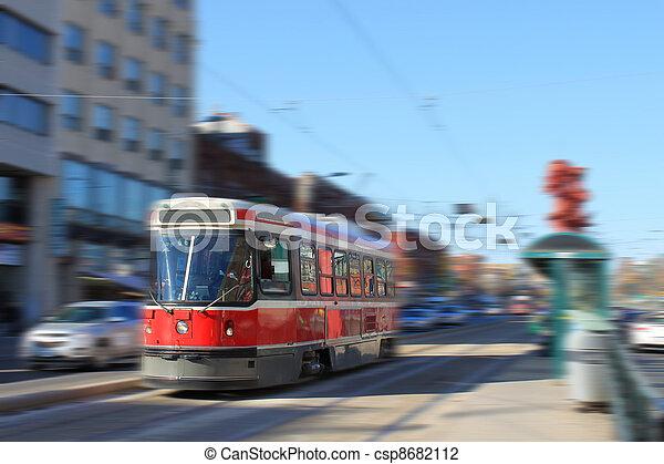 トロント, streetcar, 交通機関 - csp8682112