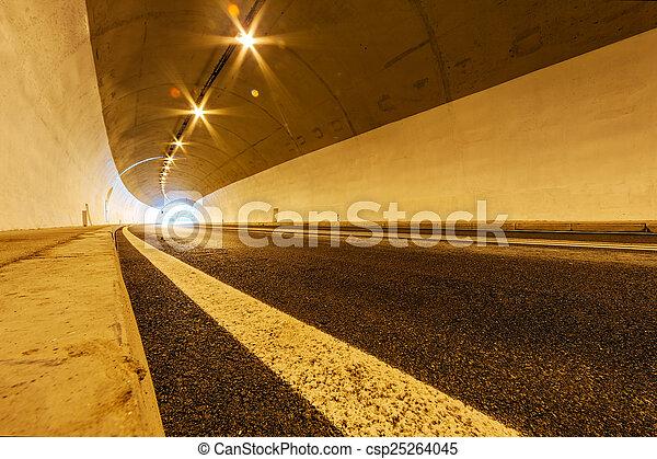 トンネル, ライト - csp25264045