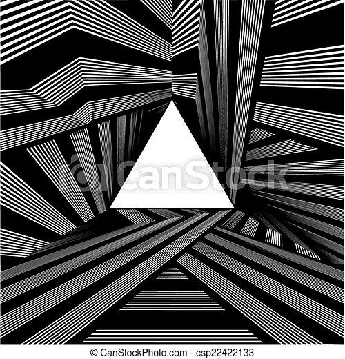 トンネル, ライト, 端, 三角形 - csp22422133