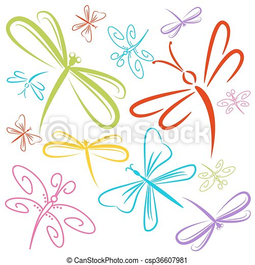 トンボ, 昆虫, グループ - csp36607981
