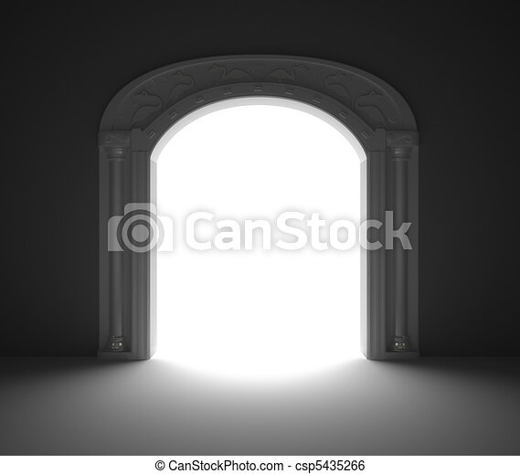 ドア, アーチ形にされる - csp5435266