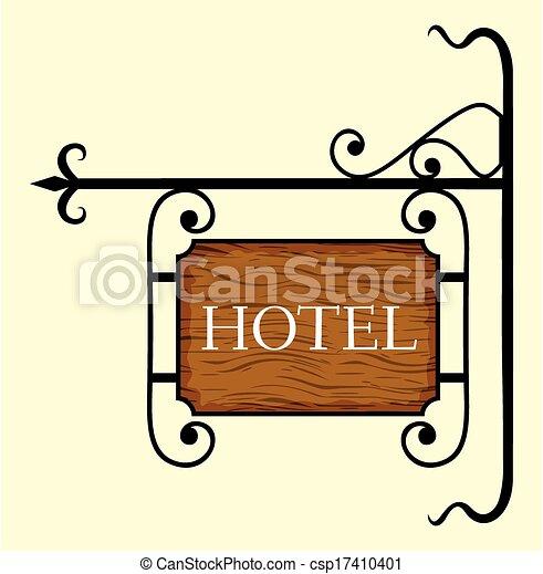 ドア, 印, 木製である, ホテル - csp17410401