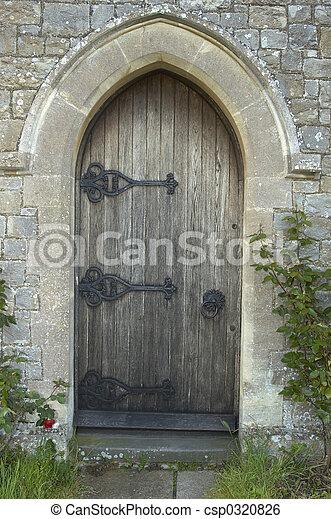 ドア, 教会 - csp0320826