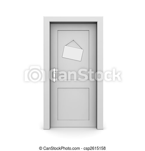 ドア, 灰色, サインを閉じた - csp2615158