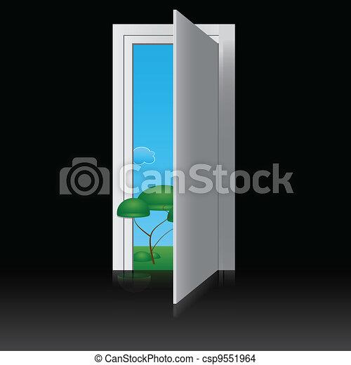 ドア, 自然 - csp9551964