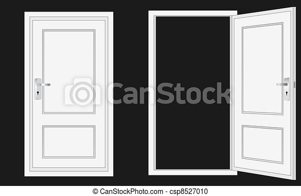 ドア, 開いた, 閉じられた - csp8527010