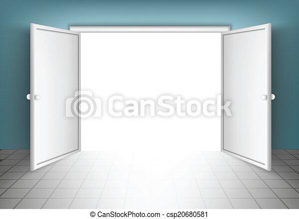 ドア, 開いた, 隔離された - csp20680581