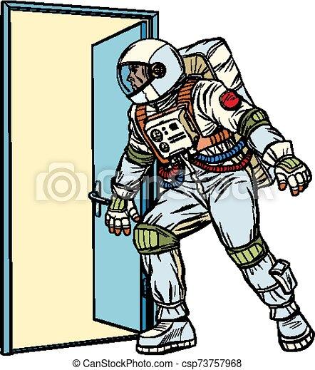 ドア, 開く, 宇宙飛行士, 未知 - csp73757968