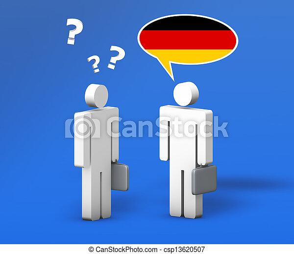 ドイツ語, ビジネス, チャット - csp13620507