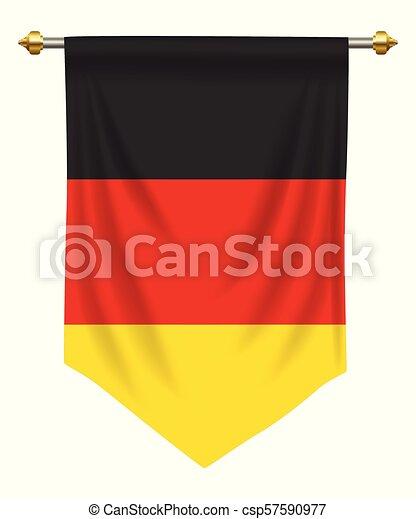 隔離された 旗 ドイツ 優勝旗 白 あるいは
