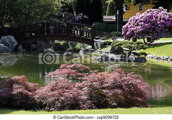 ドイツ, 日本の庭 - csp9299722