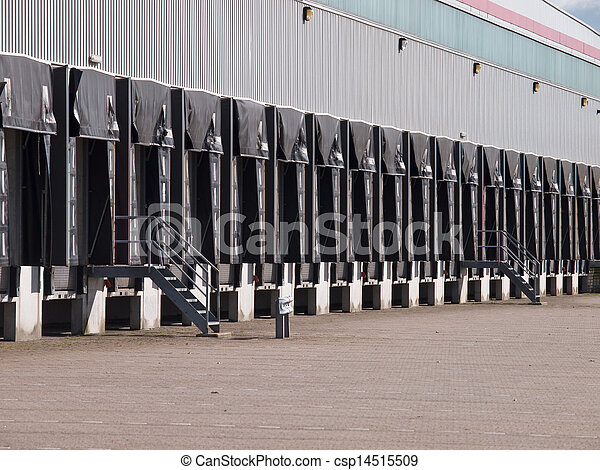 ドック, エクスポート, 概念, ドア, 貨物 - csp14515509
