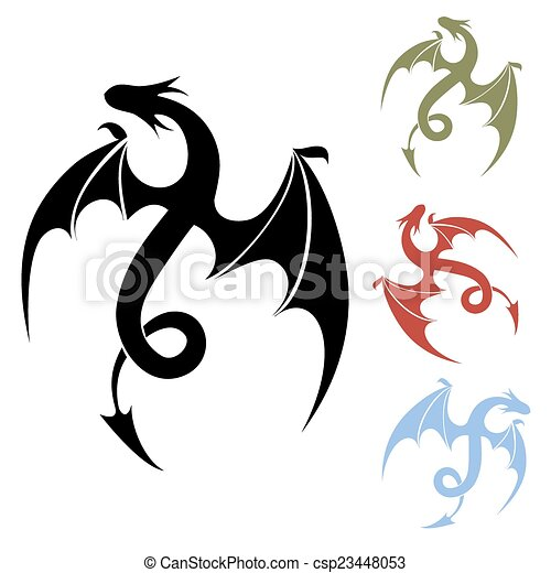 ドラゴン, アイコン , csp23448053
