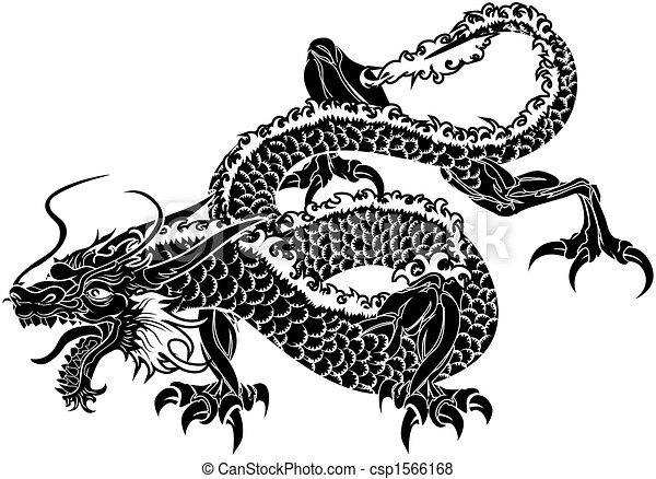 ドラゴン, 日本語, イラスト - csp1566168