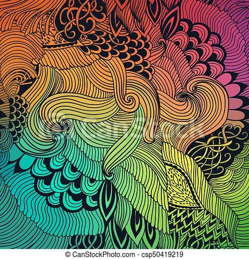 ドロー 着色 モチーフ 背景 イラスト パターン 抽象的 Ornament