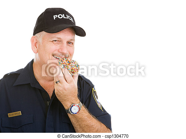 ドーナツ, 警官 - csp1304770