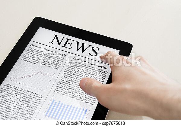 ニュース, タブレットの pc - csp7675613
