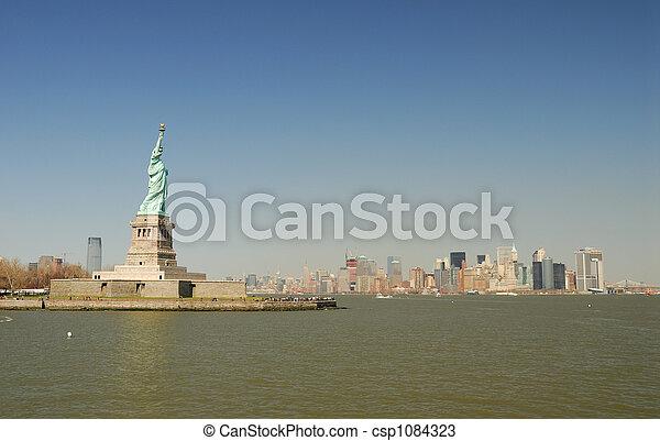 ニューヨークシティ, 像, 自由 - csp1084323