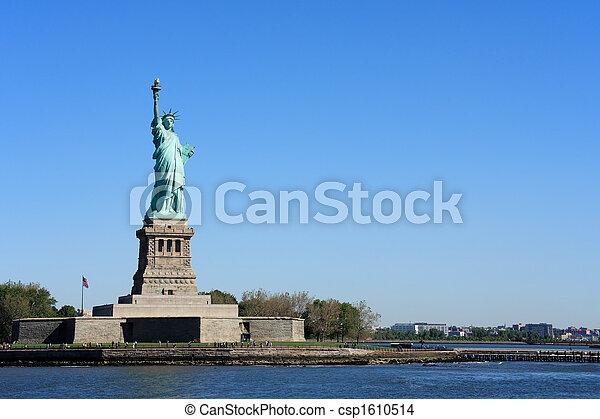 ニューヨークシティ, -, 像, 自由 - csp1610514
