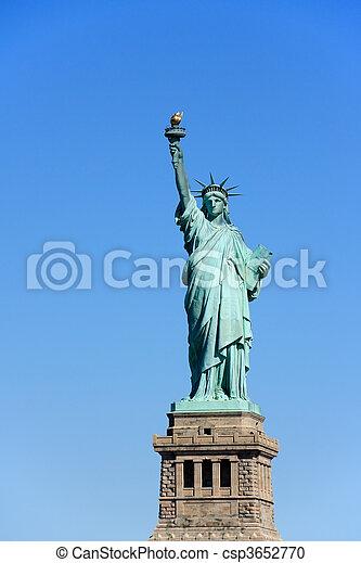 ニューヨークシティ, -, 像, 自由 - csp3652770