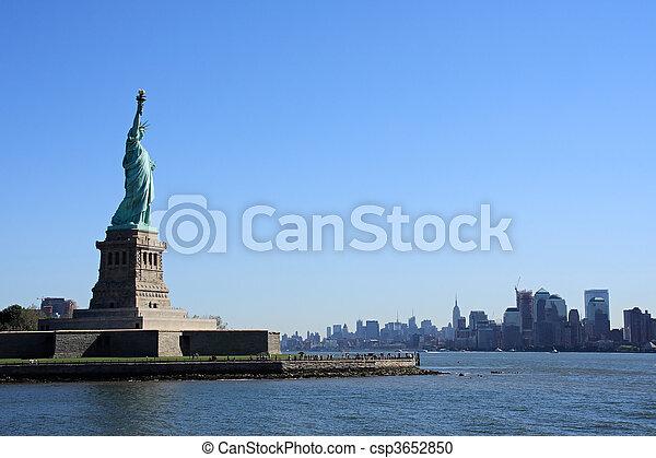ニューヨークシティ, -, 像, 自由 - csp3652850