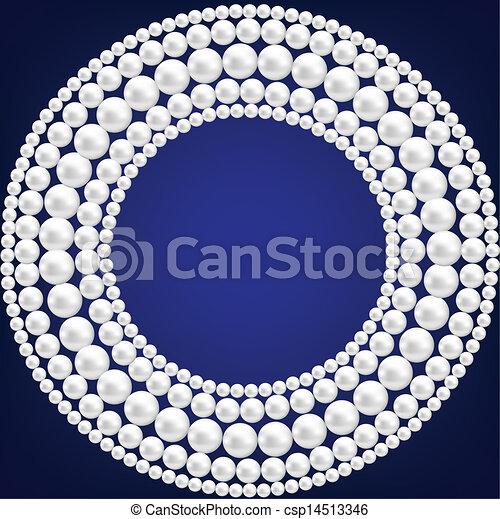 ネックレス, 真珠 - csp14513346