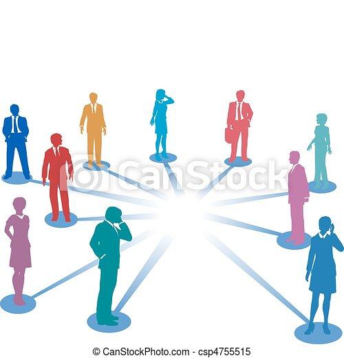 ネットワーク, ビジネス, スペース, 人々, 接続, 連結しなさい, コピー - csp4755515