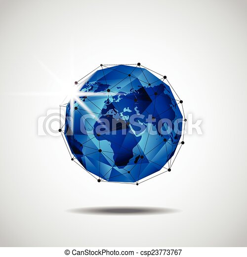 ネットワーク, ビジネス, 世界的である, 背景, ベクトル, 技術 - csp23773767