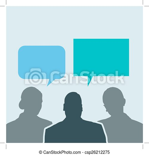 ネットワーク, ビジネス 人々, 分け前, 社会, 泡, 話 - csp26212275