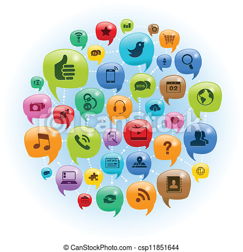 ネットワーク, 会話, 社会 - csp11851644