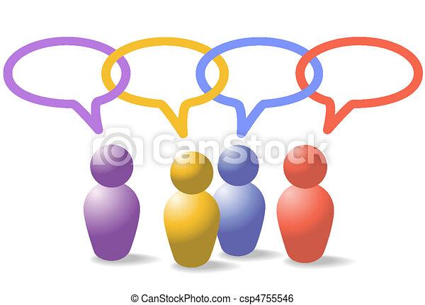 ネットワーク, 鎖, 人々, 媒体, シンボル, リンク, 社会 - csp4755546