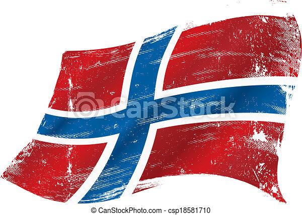 ノルウェーの旗, グランジ - csp18581710