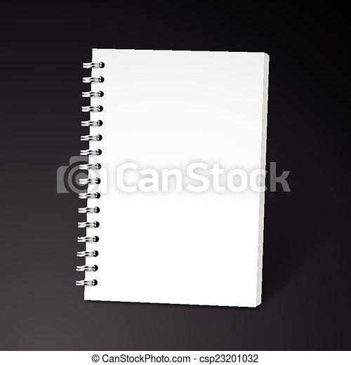 ノート, らせん状に動きなさい, ブランク - csp23201032