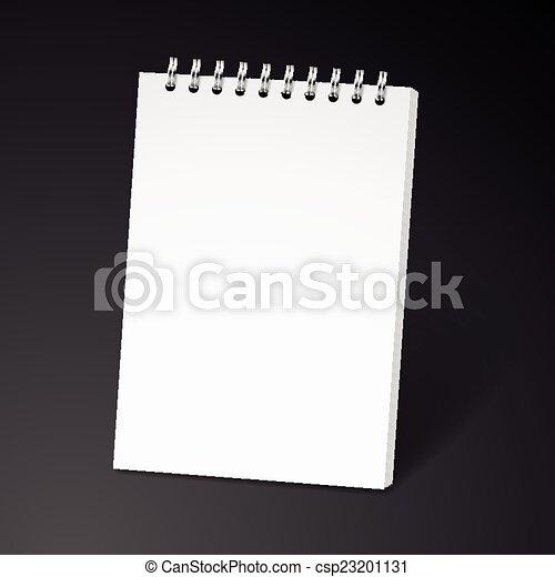 ノート, らせん状に動きなさい, ブランク - csp23201131