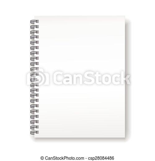 ノート, らせん状に動きなさい, ブランク - csp28084486