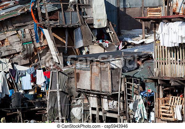 ハウジング, 掘っ建て小屋, -, アジア, 無断居住者 - csp5943946