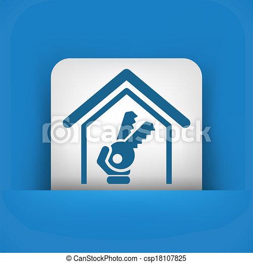 ハウスのキー, アイコン - csp18107825