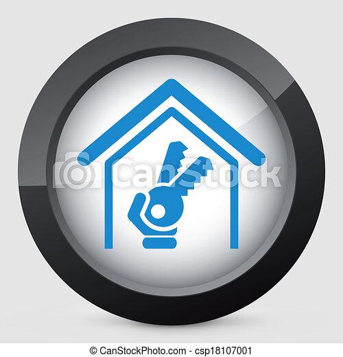ハウスのキー, アイコン - csp18107001