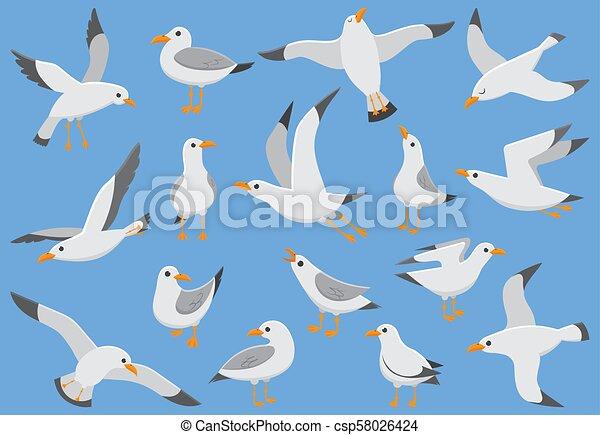 ハエ 鳥 かもめ Sky Quay カモメ イラスト ベクトル 大西洋